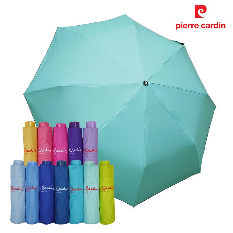 【皮爾卡登】三折黑膠無敵傘 -淺綠