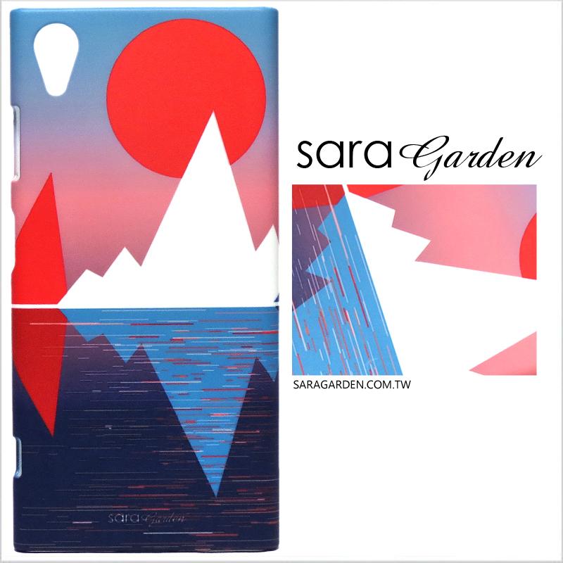 【Sara Garden】客製化 手機殼 蘋果 iphoneX iphone x 夕陽漸層藍粉 手工 保護殼 硬殼