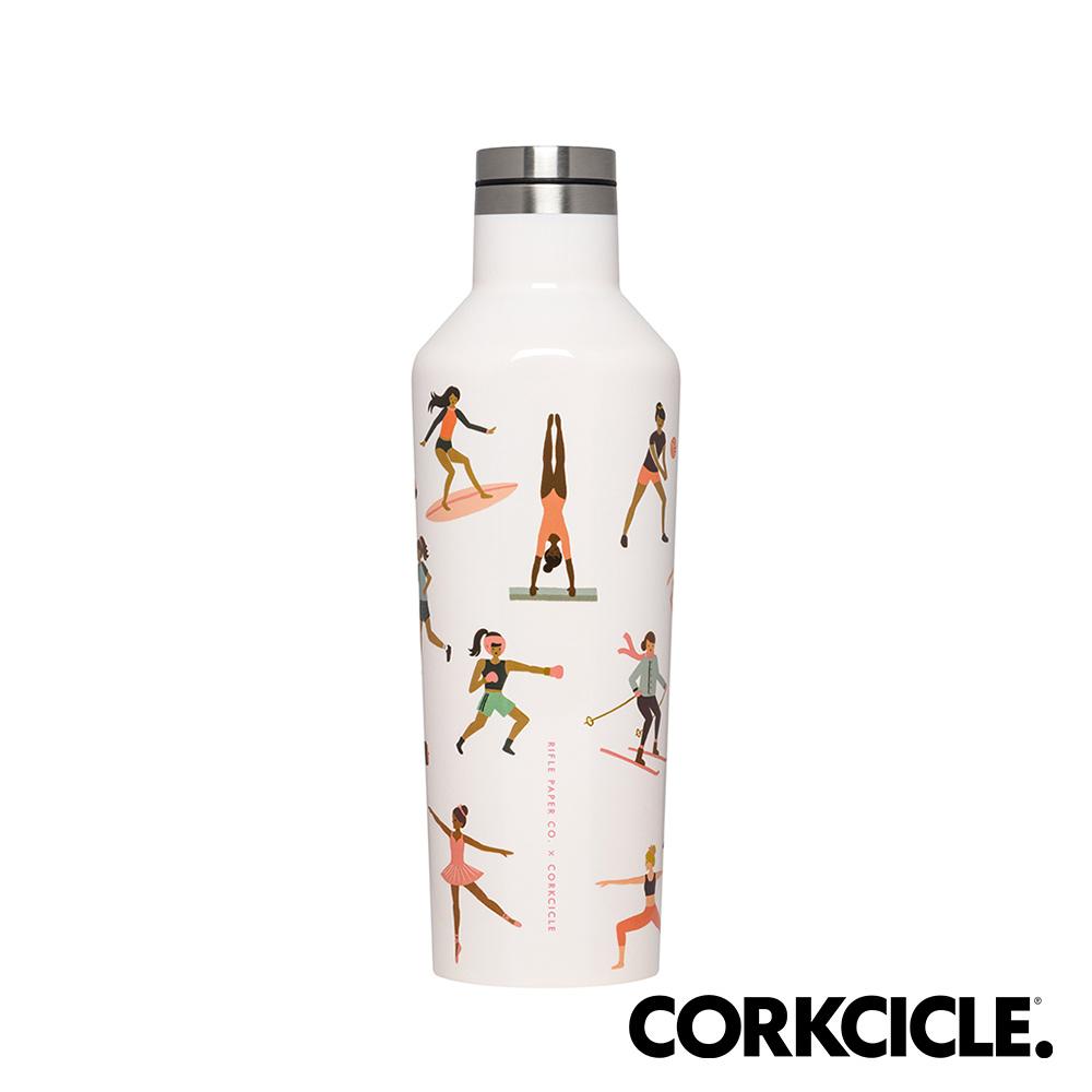 美國CORKCICLE Riflepaper設計師聯名系列三層真空易口瓶/保溫瓶470ml-運動女孩