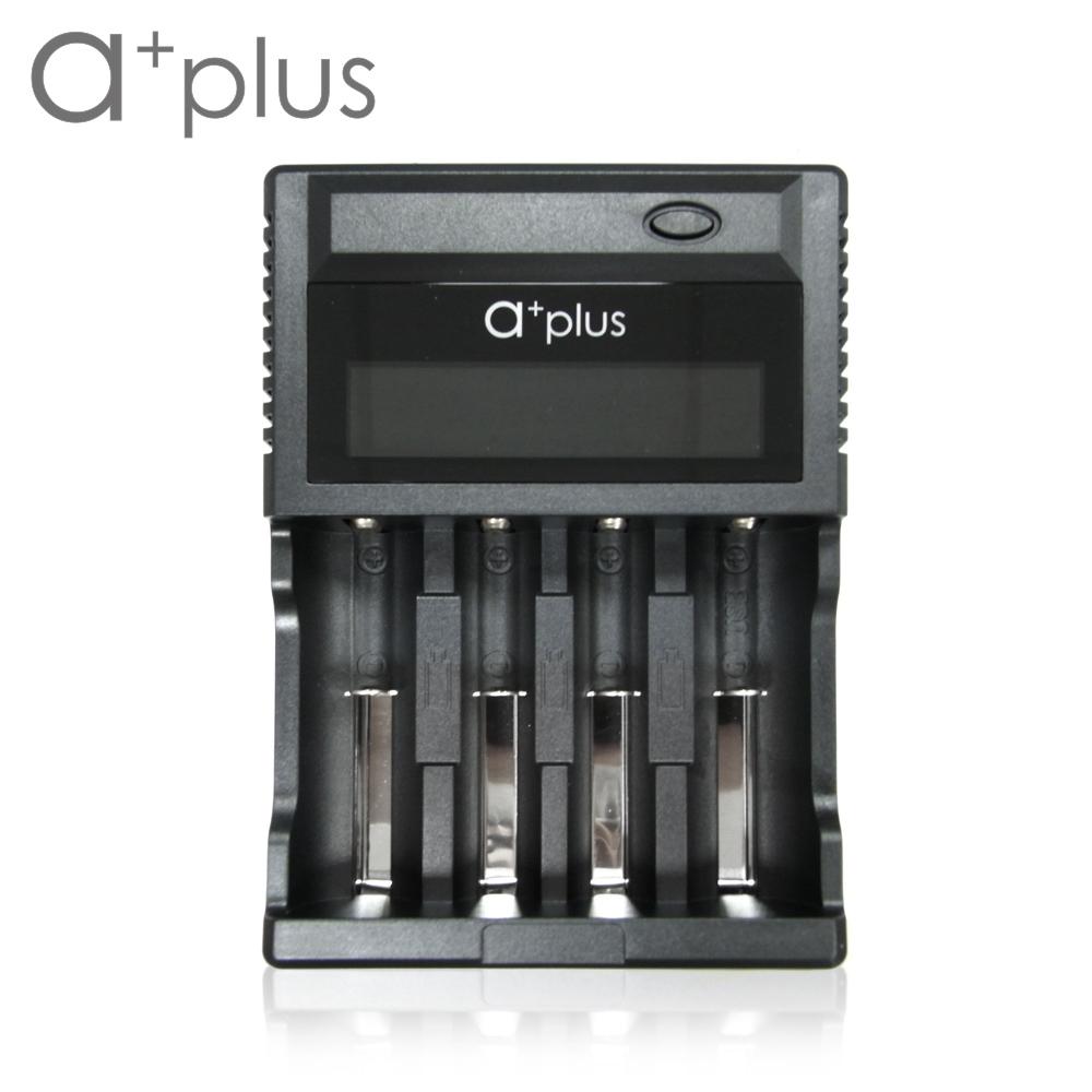 a+plus 液晶顯示智能4槽電池充電器 A+D4