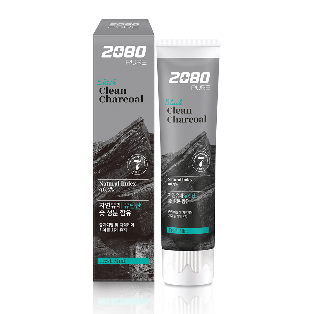 【韓國2080】北歐純椰活性碳淨白牙膏120gX6入