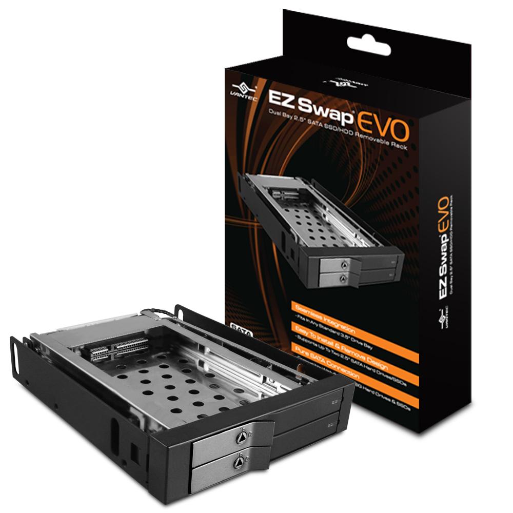 "VANTEC 凡達克EZ Swap EVO-雙槽 2.5"" SATA SSD/ HDD 抽取盒"