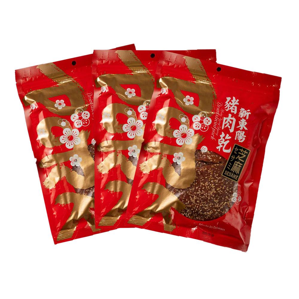 【新東陽】碳烤芝麻豬肉乾 (275g*3包)