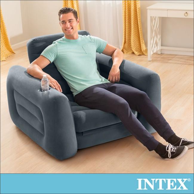 【INTEX】二合一單人充氣沙發床(66551)