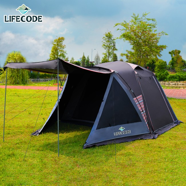 LIFECODE《倪克斯》黑膠抗陽光5人雙層防風帳篷