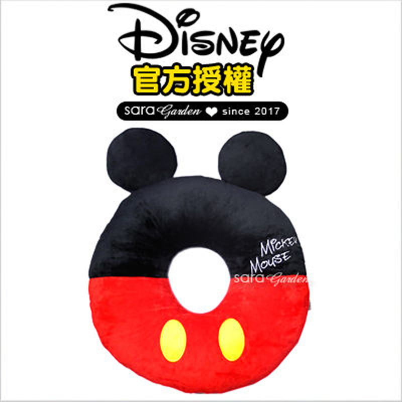 正版 迪士尼 Disney 米奇 刺繡 刺繡 坐墊 靠枕 午睡枕 抱枕 靠枕 汽車 辦公室 柔軟 絨毛 交換 禮物 送禮 禮品