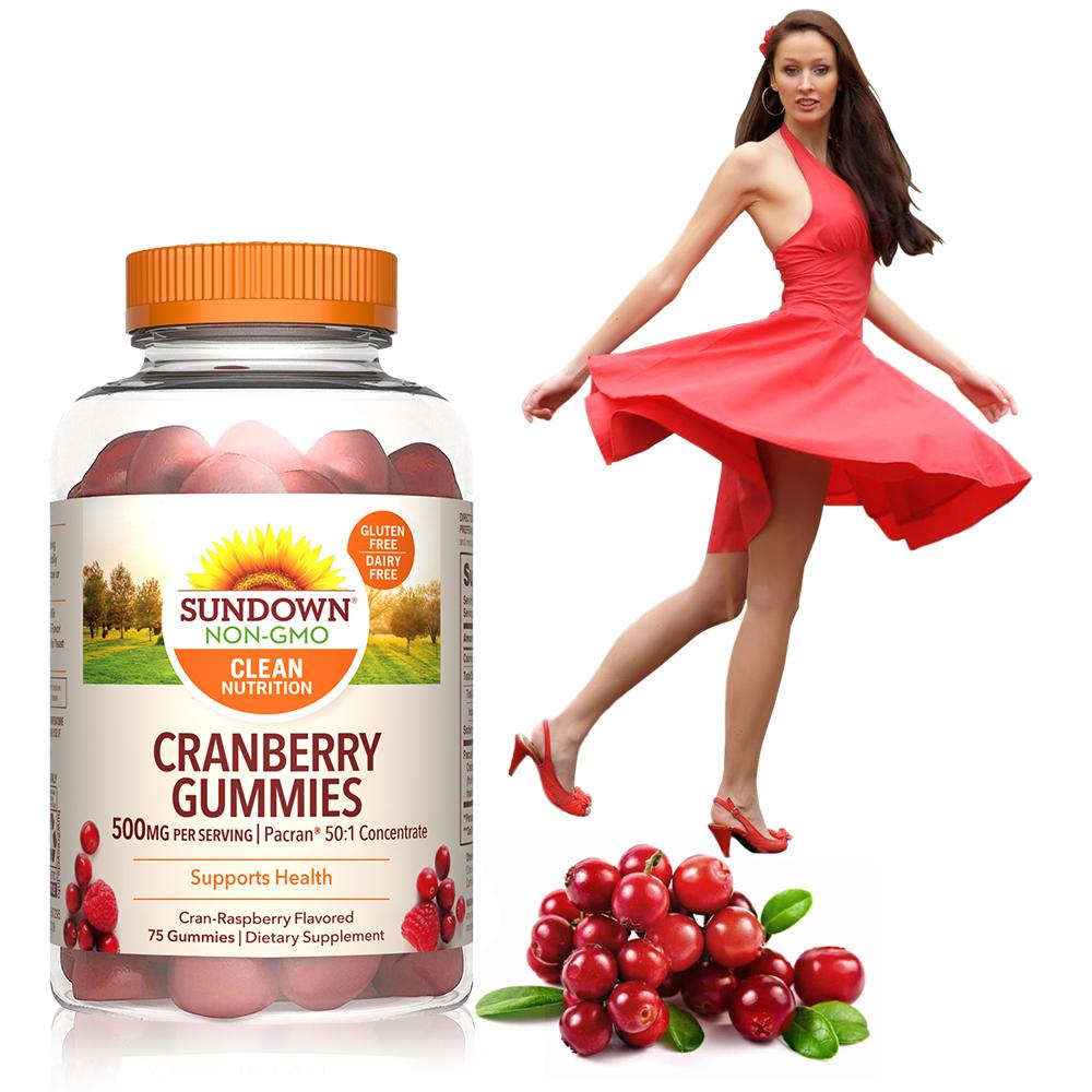美國Sundown日落恩賜 50倍濃縮蔓越莓軟糖(75粒/瓶)