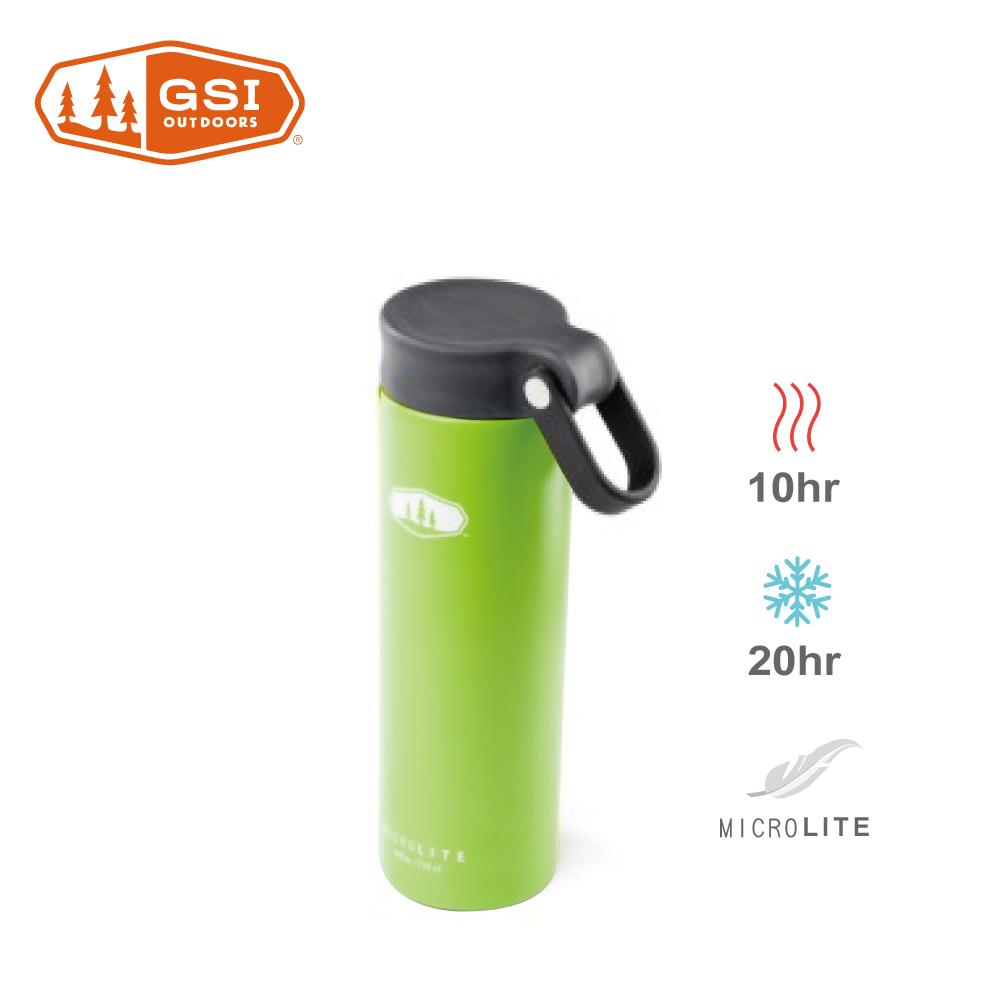 【美國GSI】輕量單手提環不鏽鋼保溫瓶-0.5L綠色
