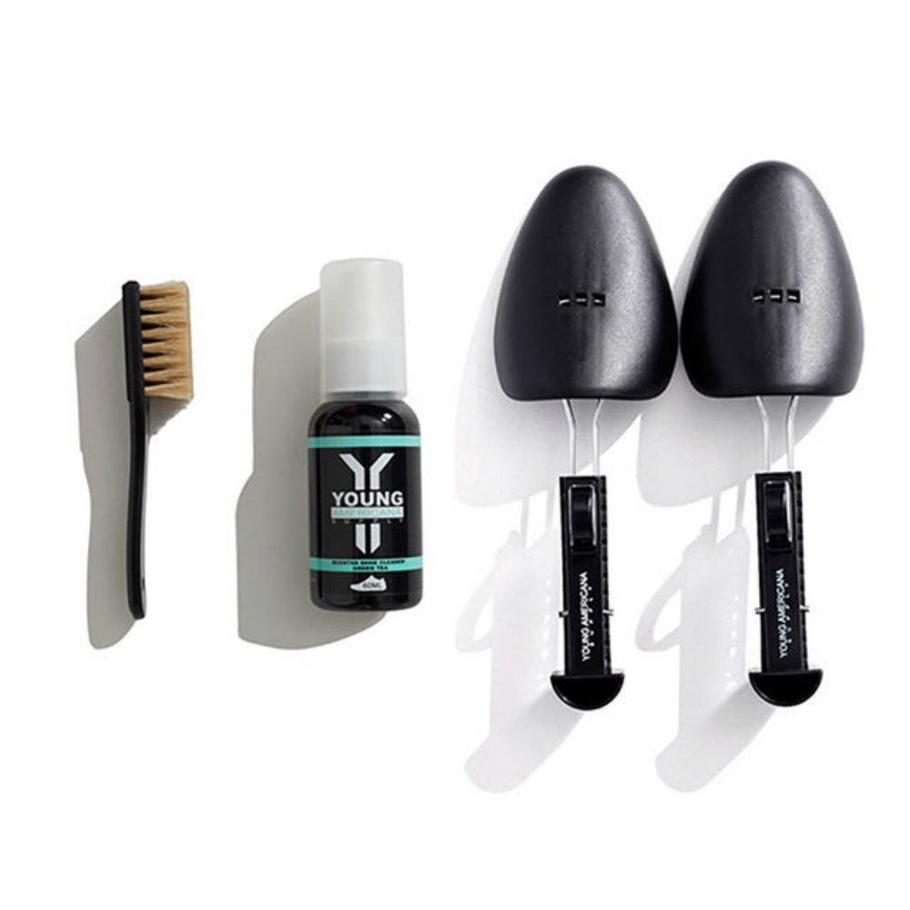 【Y.A.S】美鞋神器 洗鞋劑60ml+鞋撐-綠茶(AA0042)