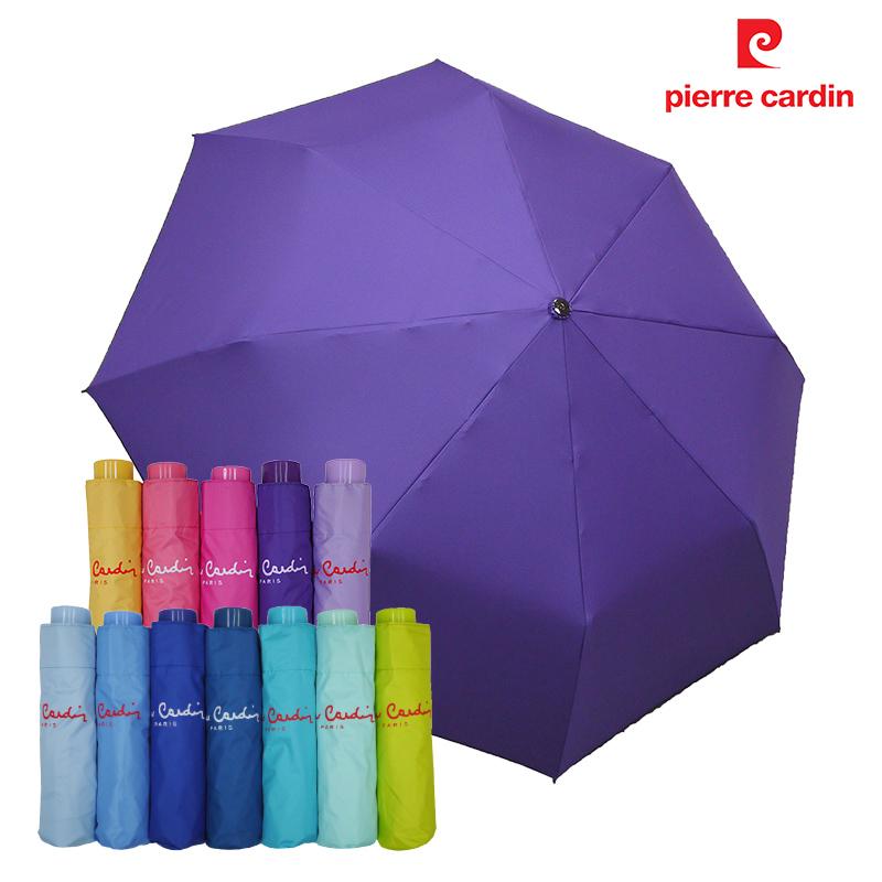 【皮爾卡登】 三折黑膠無敵傘 -深紫