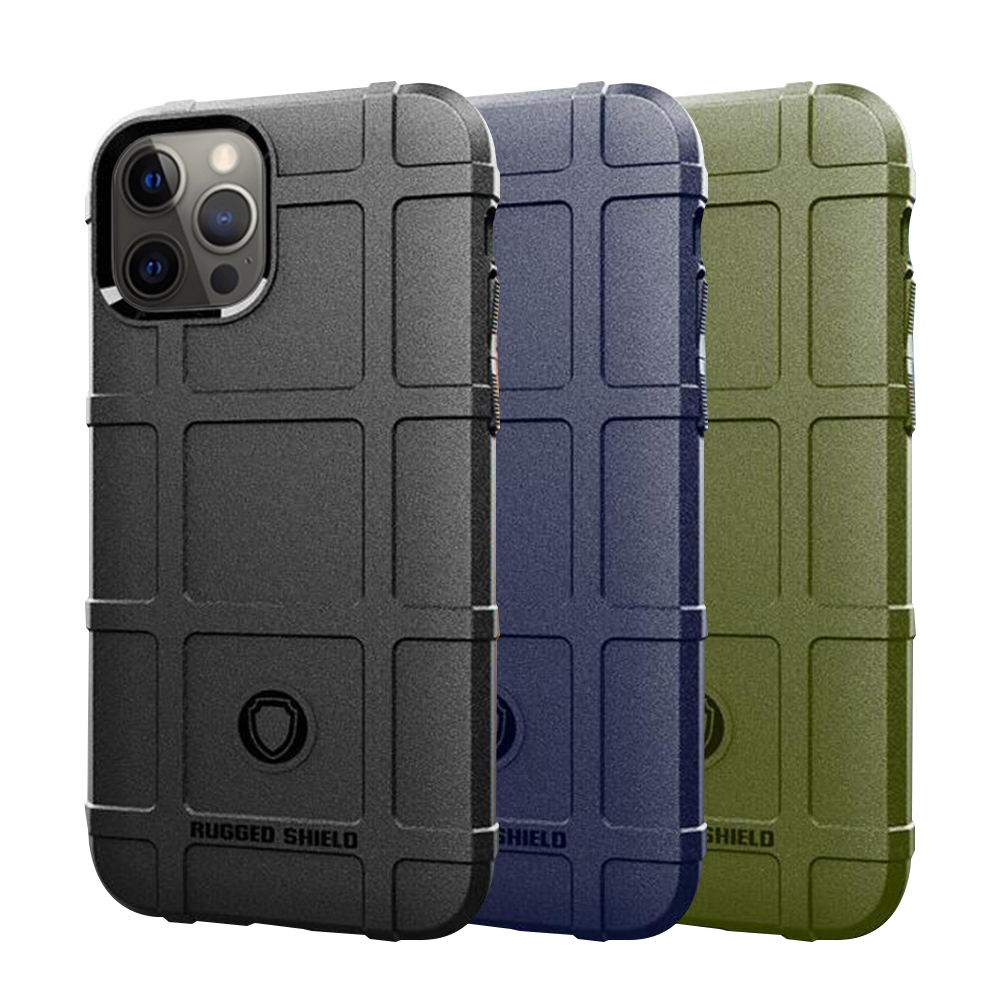 QinD Apple iPhone 12/12Pro 戰術護盾保護套(黑色)