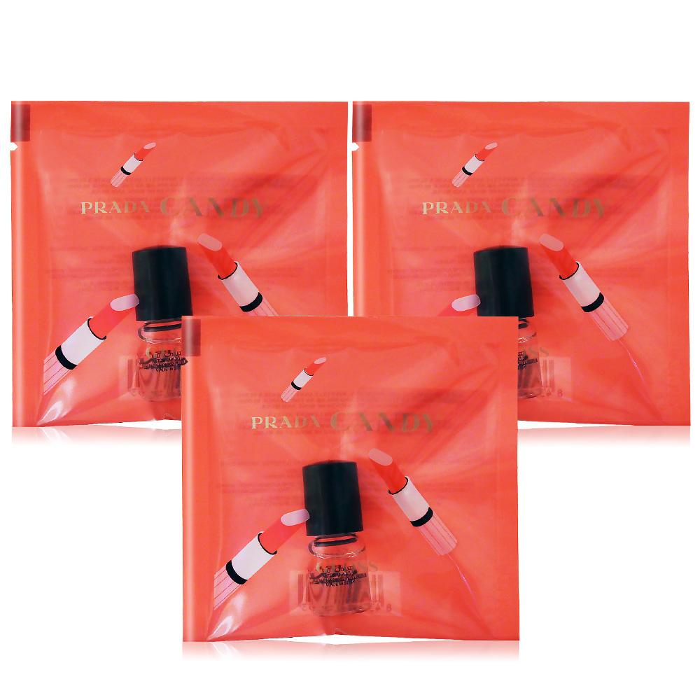 PRADA CANDY 蜜糖香吻女性淡香水滾珠瓶(2ml)X3 EDT-公司貨