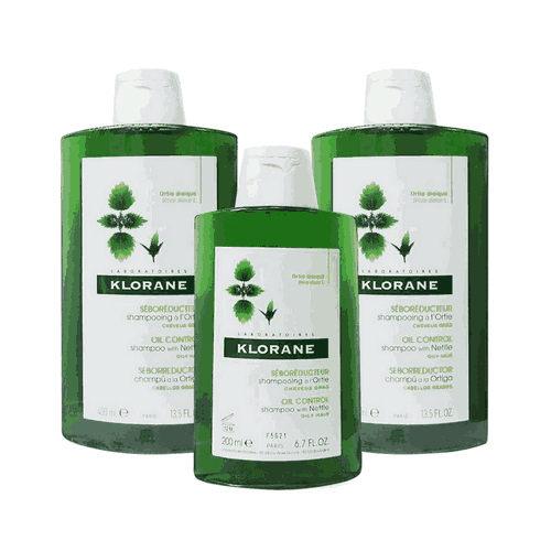 KLORANE 蔻蘿蘭 控油洗髮精 400ml*2+200ml*1