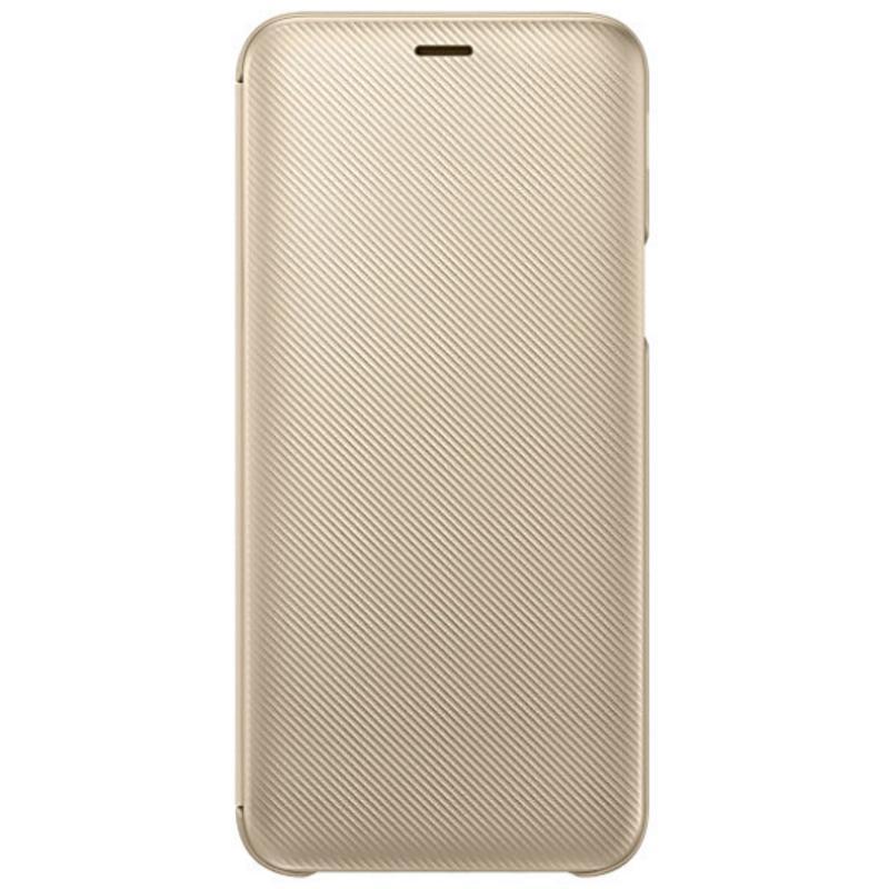 SAMSUNG Galaxy J6翻頁式皮套 金色