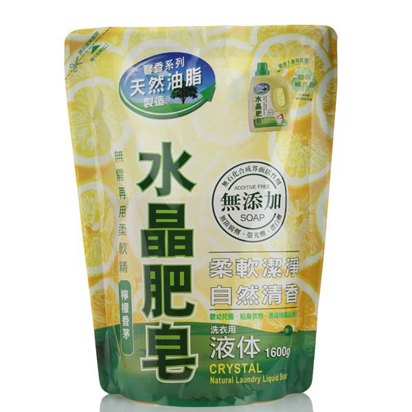南僑水晶肥皂液體皂洗衣精 補充包1600ml*6入/箱-商品簡介圖1