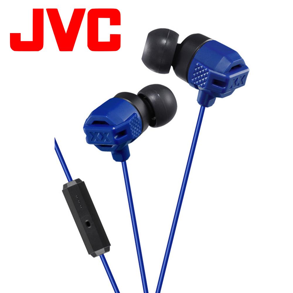 JVC XX系列重低音入耳式耳機麥克風 HA-FR202 - 藍色