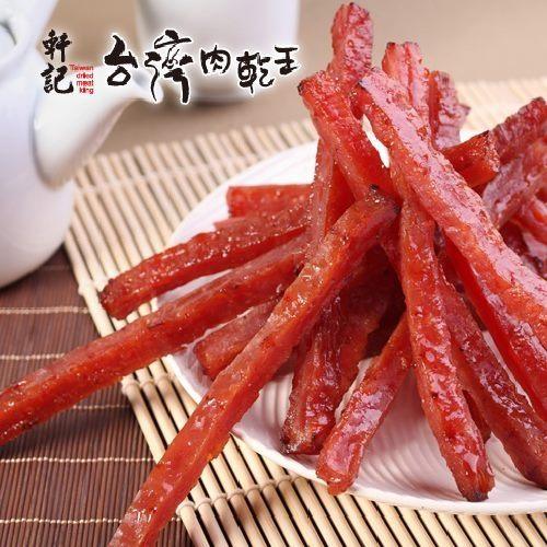 《軒記-台灣肉乾王》吮指岩燒豬肉條(160g/包,共兩包)