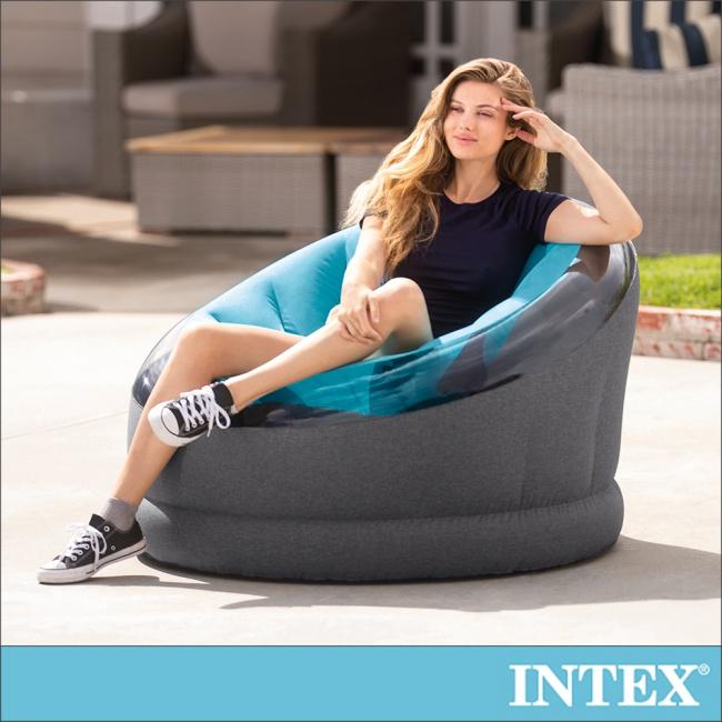 【INTEX】帝國星球椅 /充氣沙發/懶骨頭112x109x高69cm-天藍色(66582)