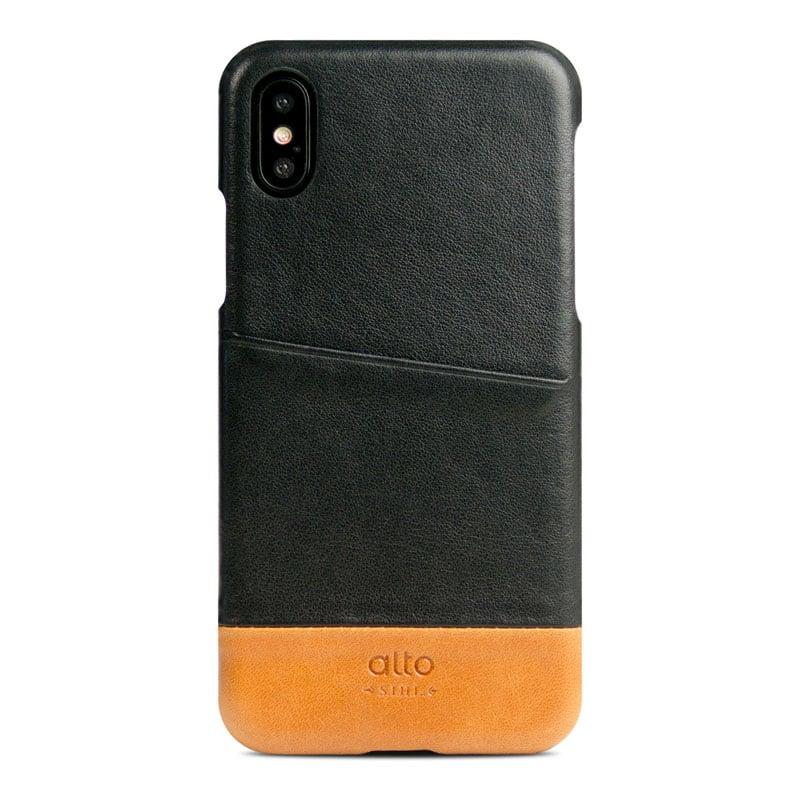 Alto|iPhone X / Xs 皮革保護殼 Metro – 渡鴉黑/焦糖棕
