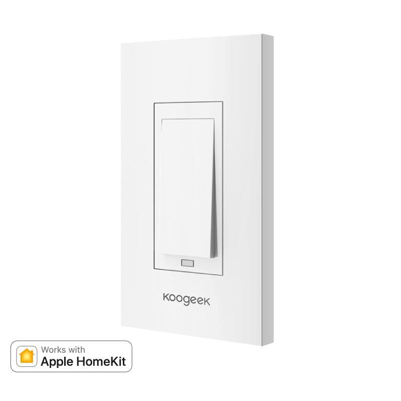 智慧家電 -APPLE HomeKit koogeek 無線智慧牆壁開關 KH01 (1迴線)