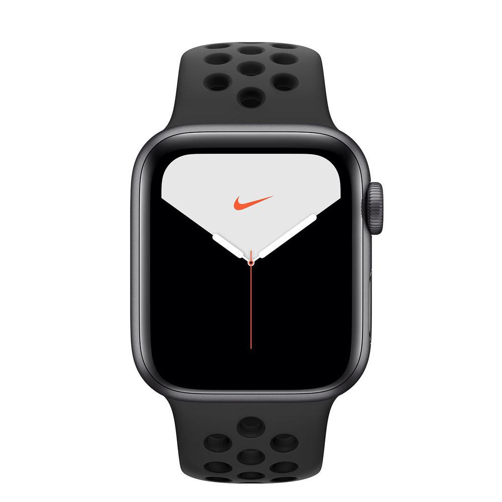 Apple Watch S5 Nike GPS版 44mm太空灰鋁錶殼黑運動錶帶MX3W2TA