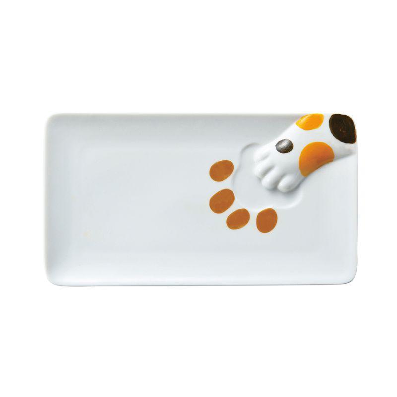 日本 sunart 長餐盤 - 三花貓偷食