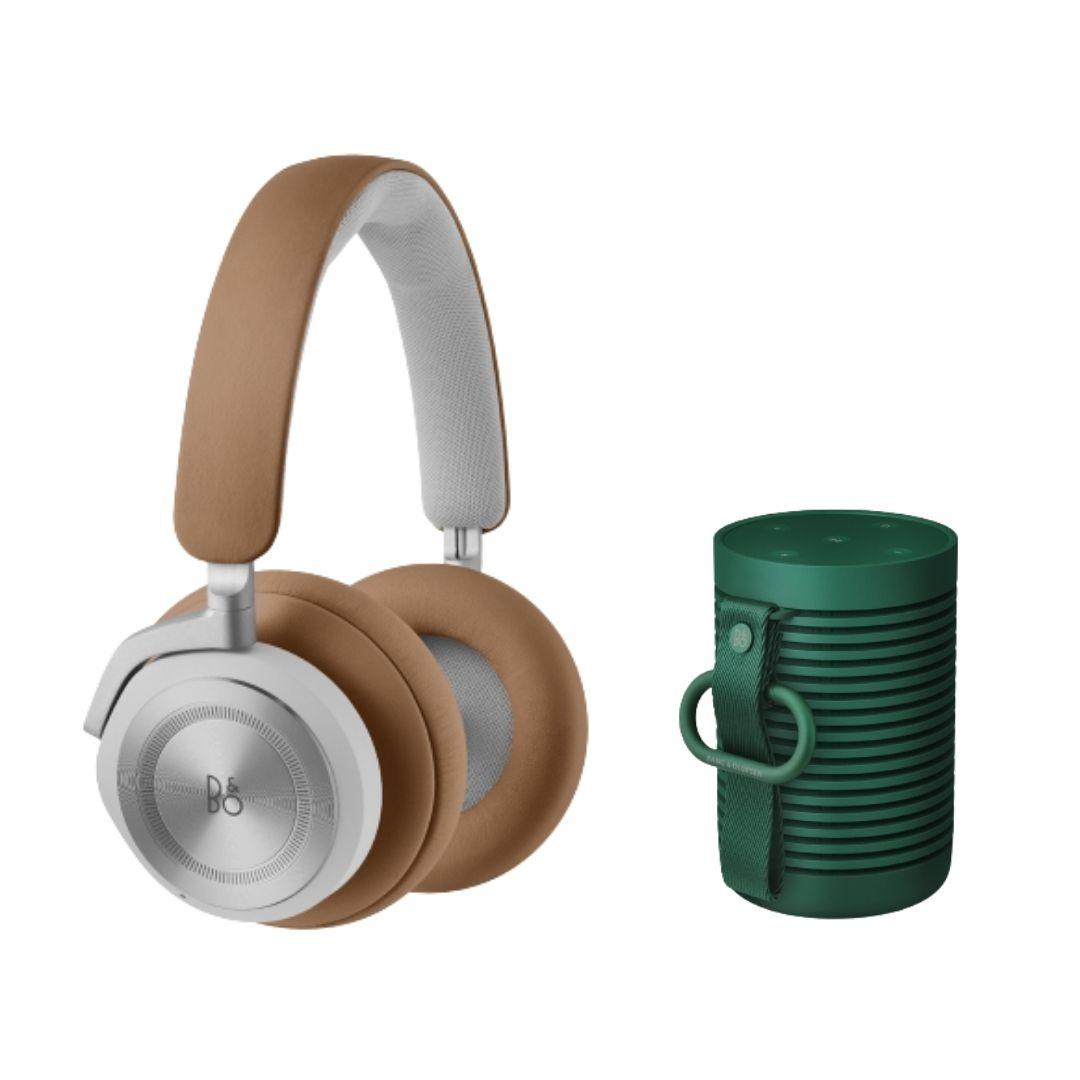 B&O兩件組 Beoplay HX 棕+Beosound Explore 綠(限時優惠預購)