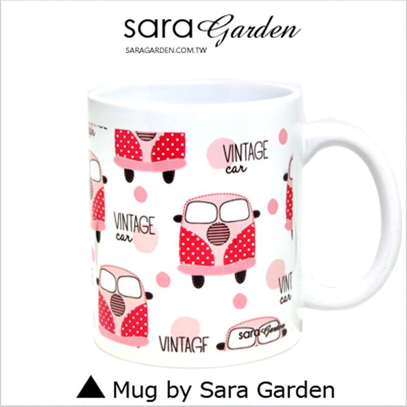 【Sara Garden】客製 手作 彩繪 馬克杯 Mug 手繪 插畫 輕旅行 復古 車車 咖啡杯 陶瓷杯 杯子 杯具 牛奶杯 茶杯