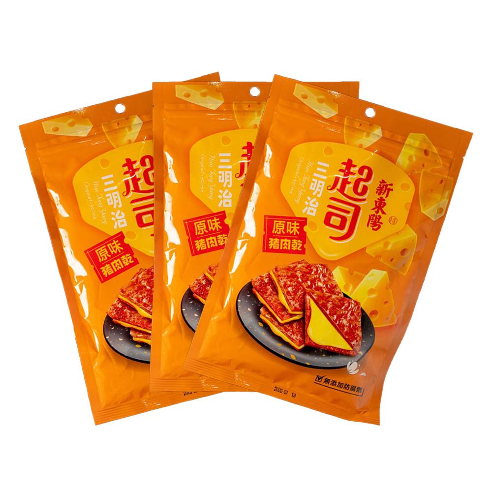 【新東陽】起司三明治豬肉乾 (180g*3包)