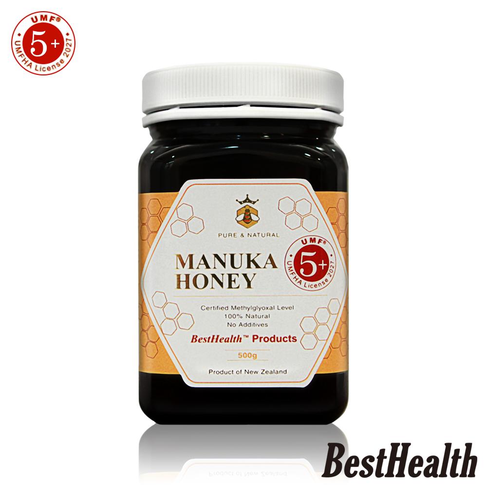 【Best Health】紐西蘭麥蘆卡蜂蜜活性UMF 5+(500g)