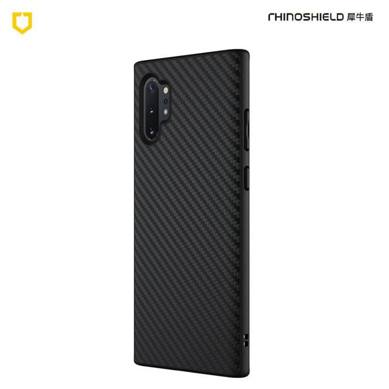 犀牛盾SolidSuit防摔背蓋手機殼 SAMSUNG Galaxy Note10+ 黑碳纖