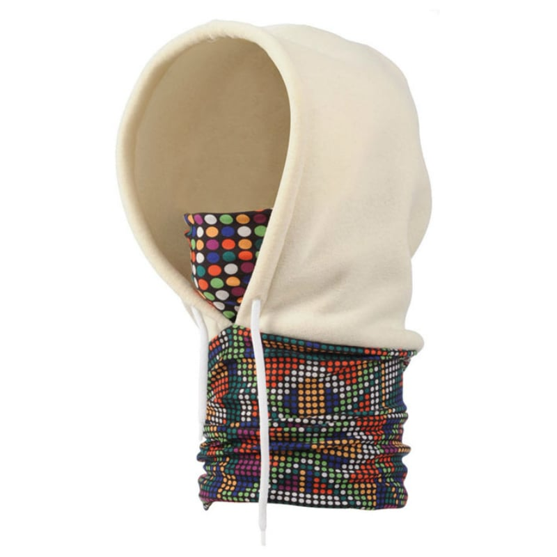 【西班牙 BUFF】彩色點點 POLAR保暖連帽頭巾