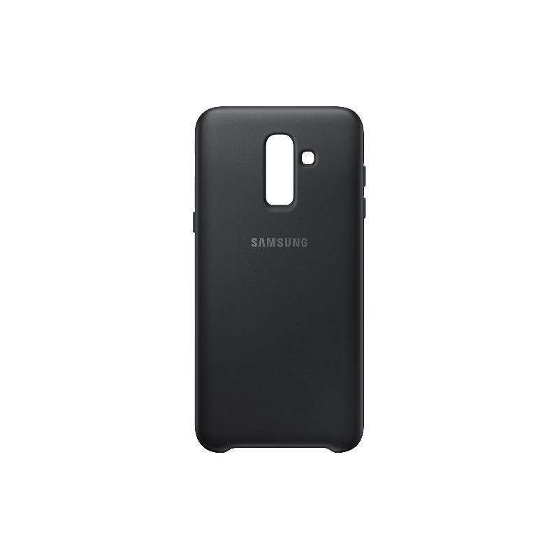 SAMSUNG Galaxy J8薄型透明背蓋-PC及TPU混和 黑