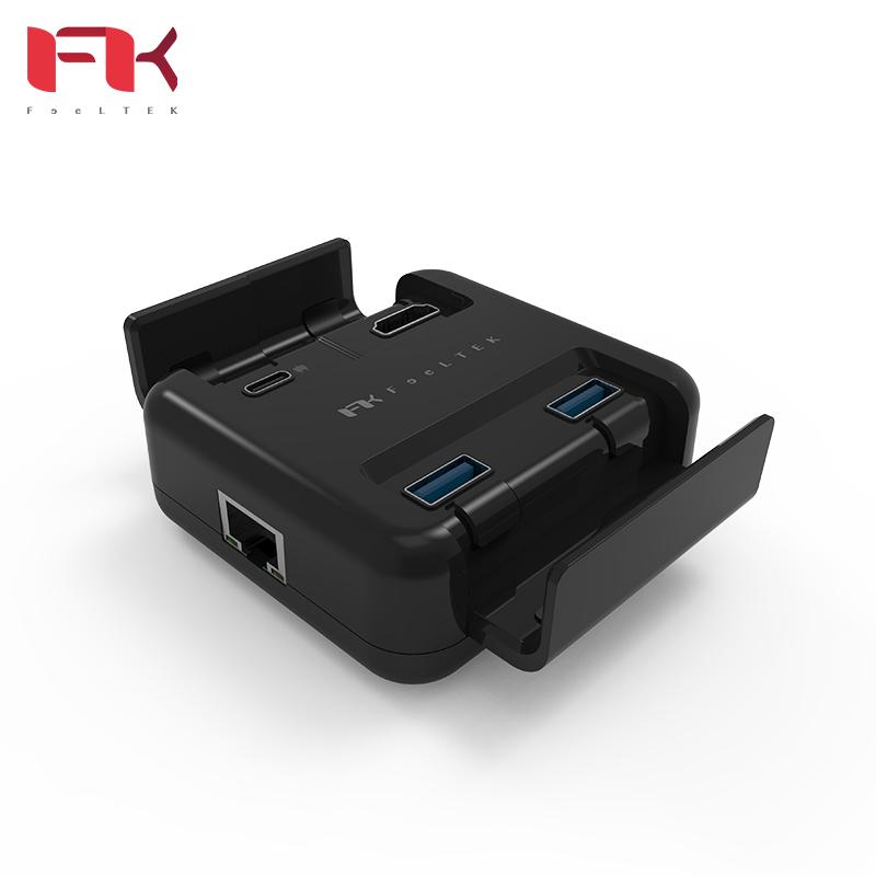 Feeltek Proxy 5 in 1 Type-C Hub 60WPD+HDMI+RJ45 OTG 影音轉換器