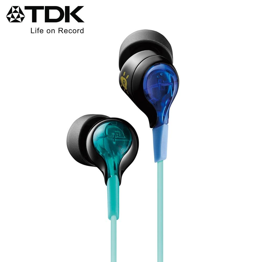 TDK 炫彩發光科技感入耳式耳機 CLEF-BEAM - 藍色