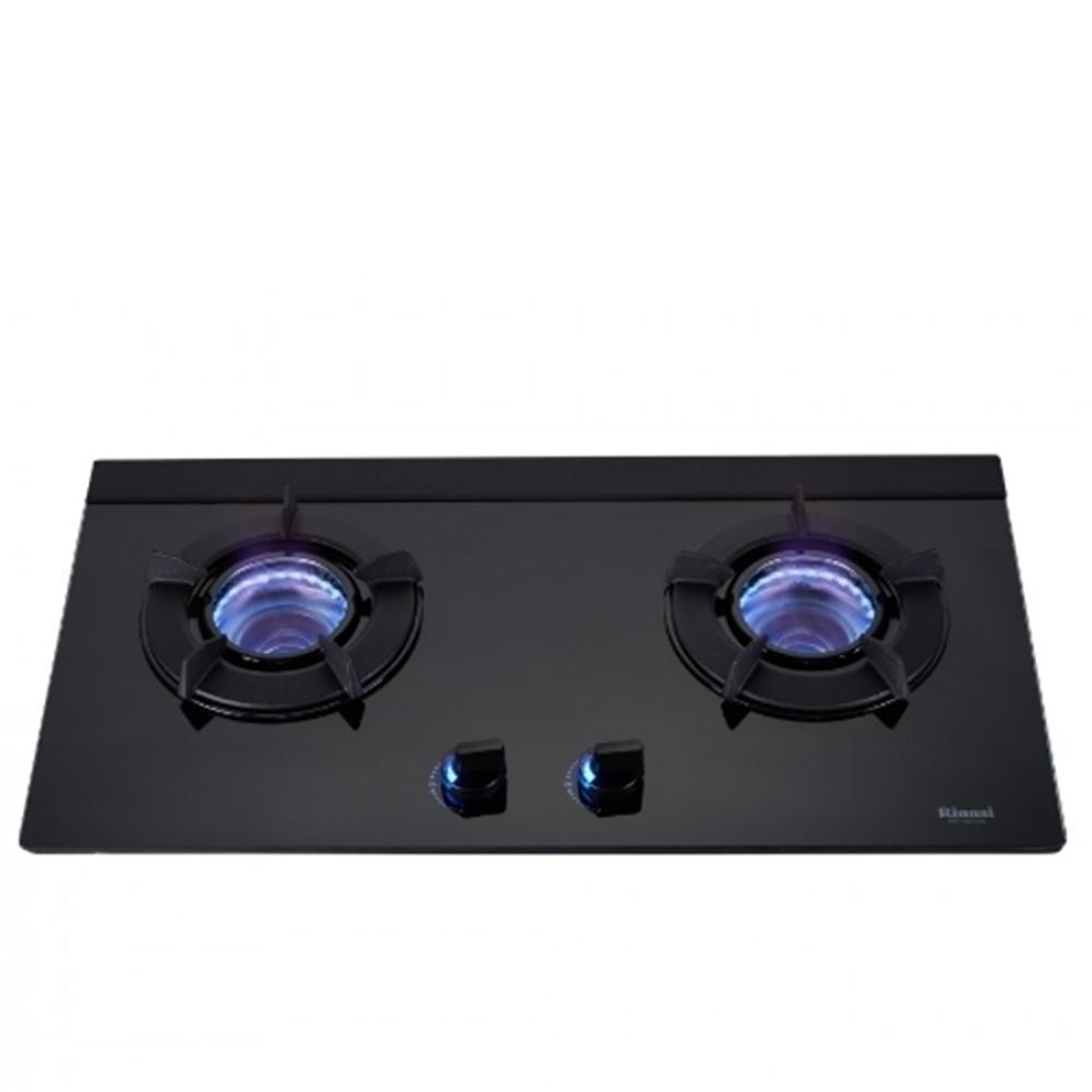 (全省安裝)林內雙口內焰玻璃檯面爐內焰爐鑄鐵爐架黑色LED(與RB-N212G(B)同款)瓦斯爐RB-N212G(B)_LPG