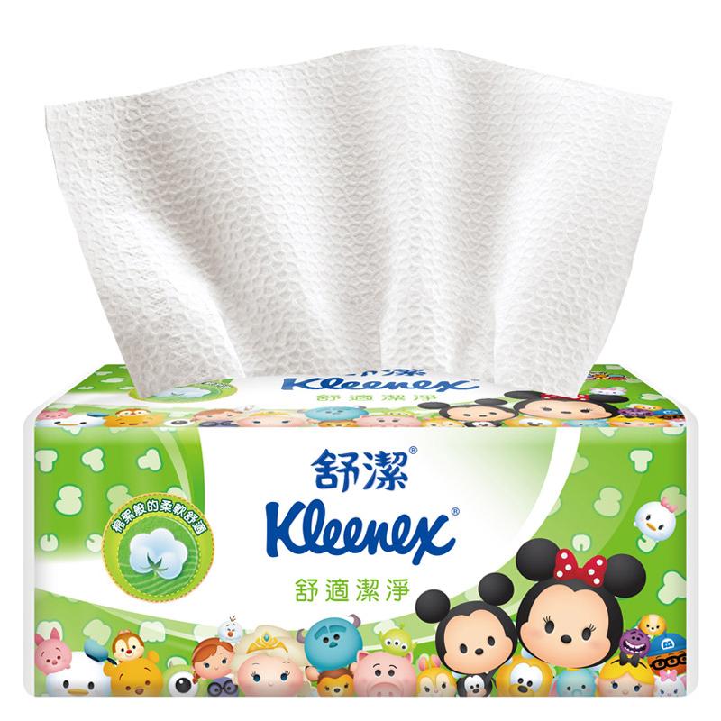 【舒潔】 迪士尼舒適潔淨抽取衛生紙 Tsum Tsum限定版(100抽x72包/箱)