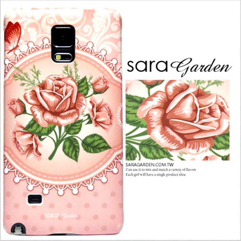 【Sara Garden】客製化 手機殼 HTC M8 玫瑰 蕾絲 碎花 圓點 保護殼 硬殼 限定