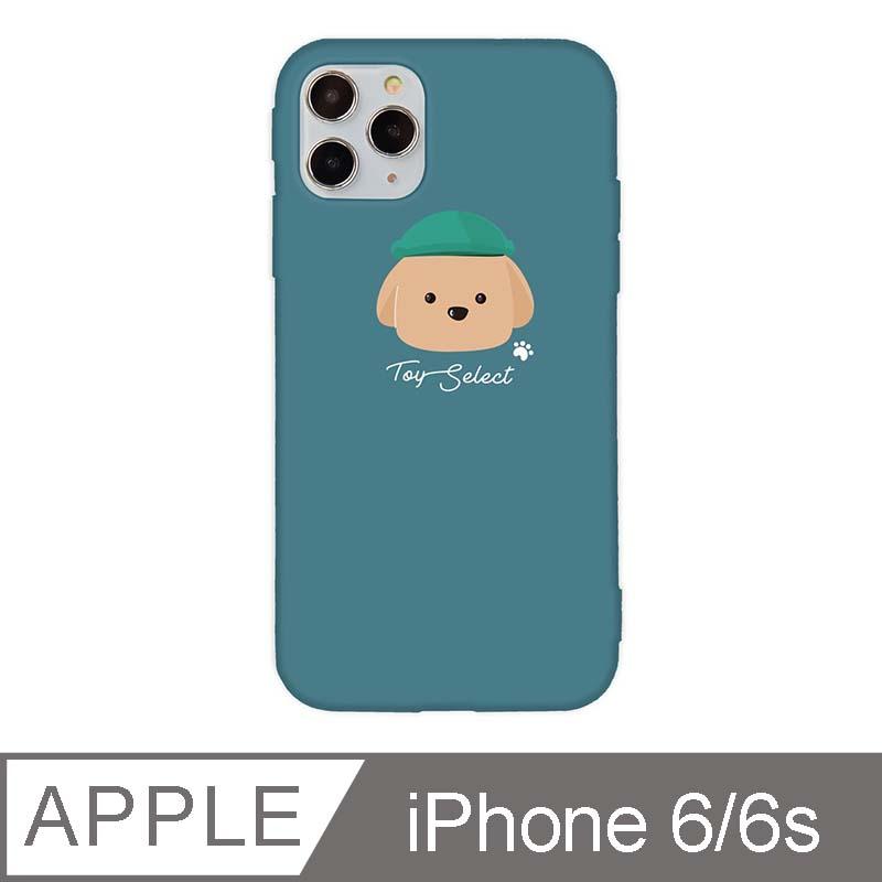iPhone 6/6s 4.7吋 文藝貴賓狗iPhone手機殼 巧克力貴賓 青綠色