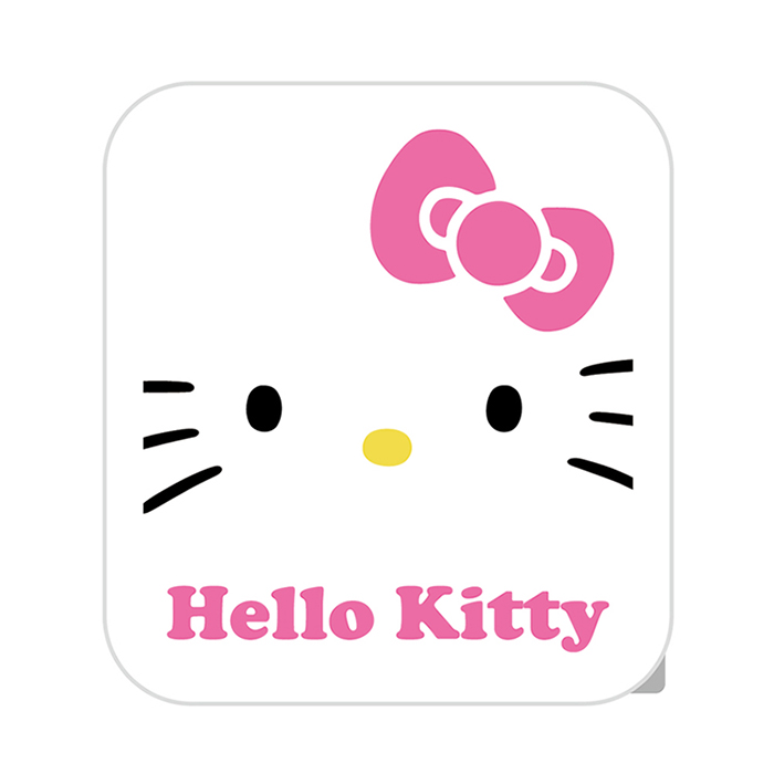 【正版授權】HELLO KITTY 3.4A 雙孔USB 旋轉充電頭-粉
