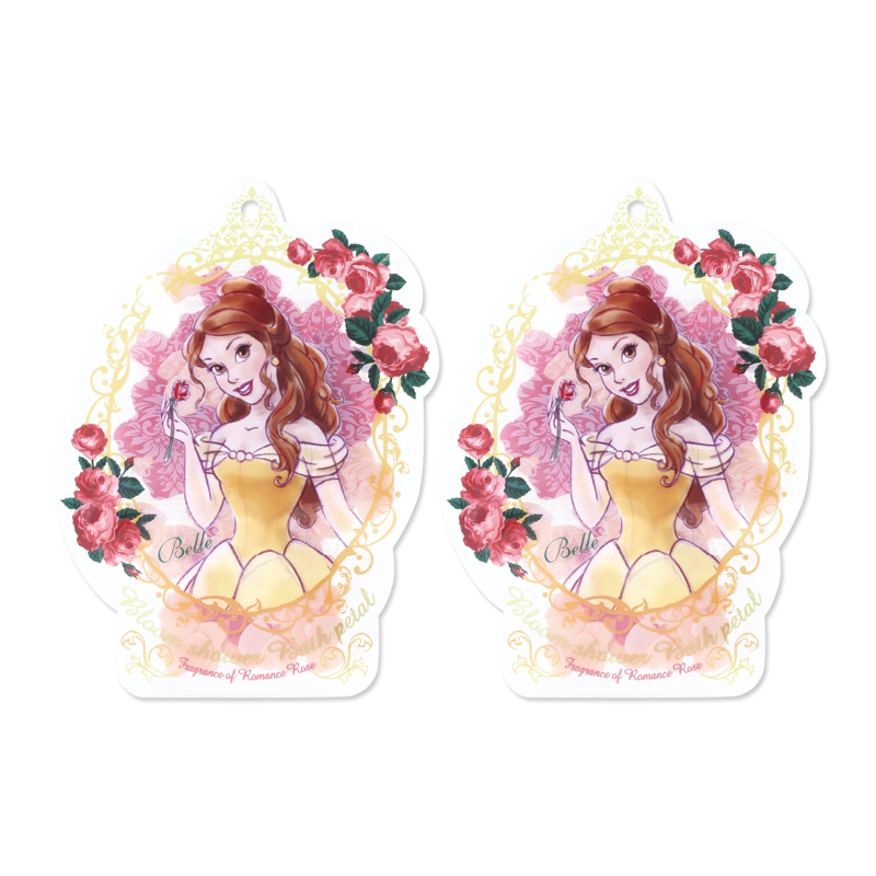 Disney迪士尼公主花瓣泡澡片-貝兒〈玫瑰香〉-2入組