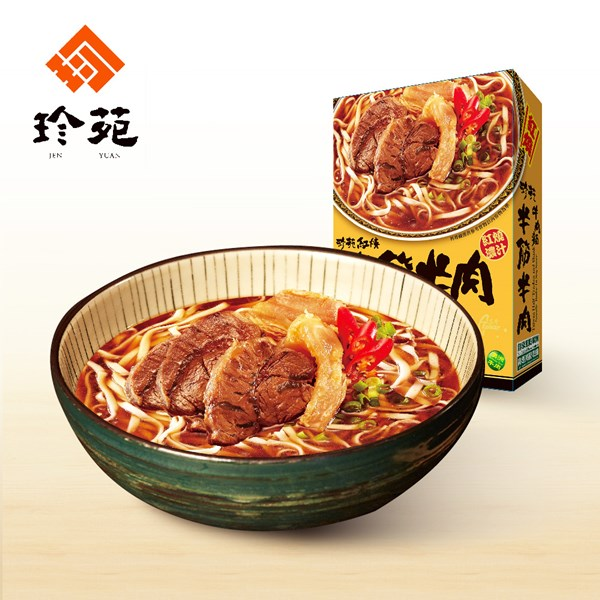 《珍苑》紅燒半筋牛肉麵(常溫)(530g/份,共2份)