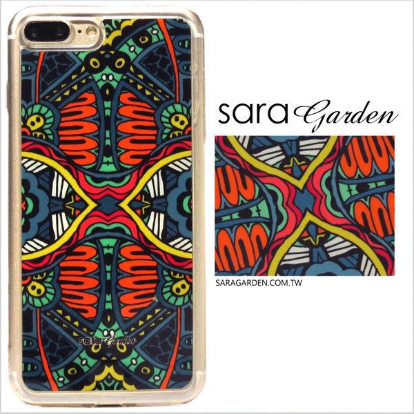 【Sara Garden】客製化 軟殼 蘋果 iPhone7 iphone8 i7 i8 4.7吋 手機殼 保護套 全包邊 掛繩孔 萬花筒圖騰