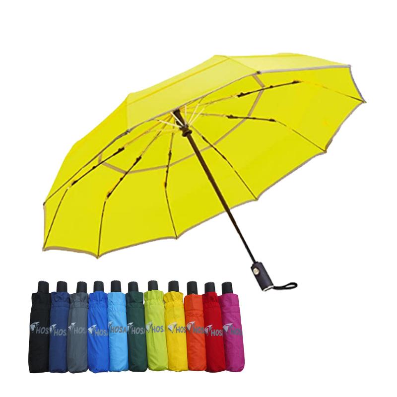 【HOSA】安全雙反光自動傘-黃色