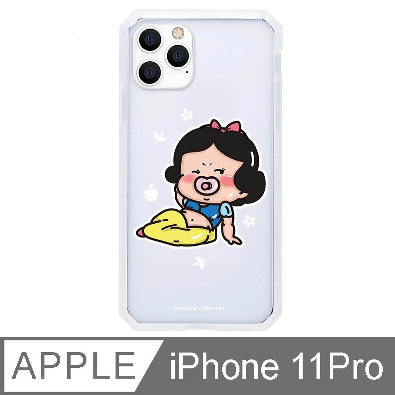 iPhone 11 Pro 5.8吋 經典崩壞公主寶寶系列防爆抗摔iPhone手機殼-白雪寶寶(透明)