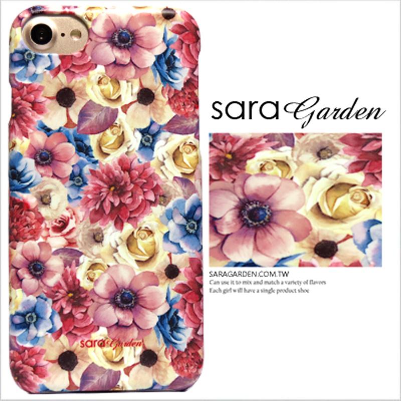 【Sara Garden】客製化 手機殼 蘋果 iphone5 iphone5s iphoneSE i5 i5s 清新 雛菊 碎花 保護殼 硬殼