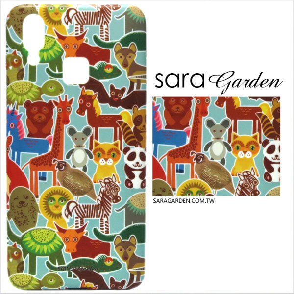 【Sara Garden】客製化 手機殼 SONY L2 保護殼 硬殼 可愛手繪動物