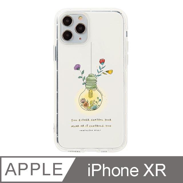 iPhone XR 6.1吋 Mandie園藝小日子插畫防摔iPhone手機殼 燈泡花