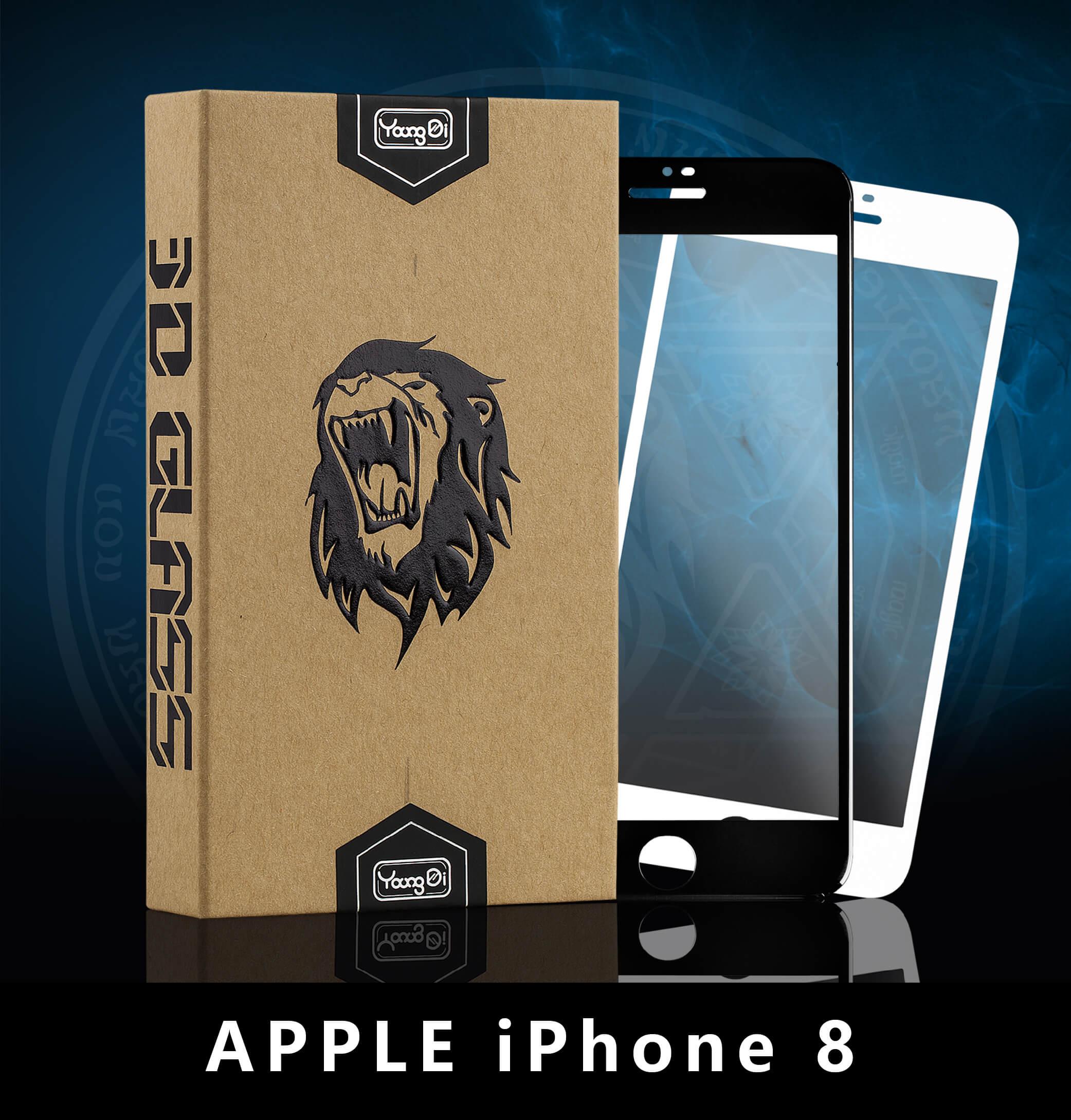 【YoungDi永廸】3D曲面鋼化玻璃保護貼(魔法版)-iPhone 8-黑色