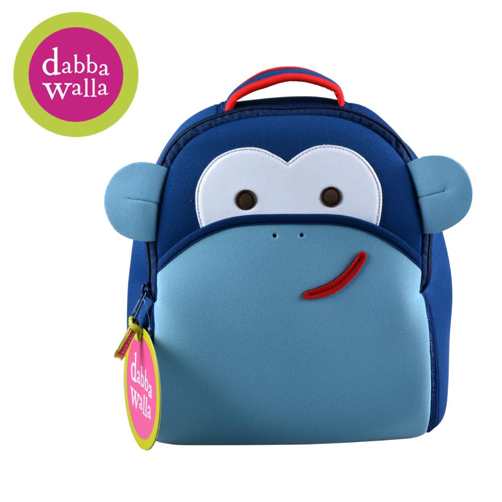 美國Dabbawalla瓦拉包 -藍色猴子兒童後背包(9/30~10/3訂單會延後至10/5開始出貨)